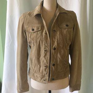 Eddie Bauer suede leather jacket Sz S